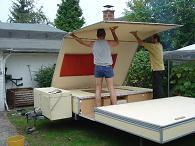 rapido record klapp wohnwagen m festen w nden ebay. Black Bedroom Furniture Sets. Home Design Ideas